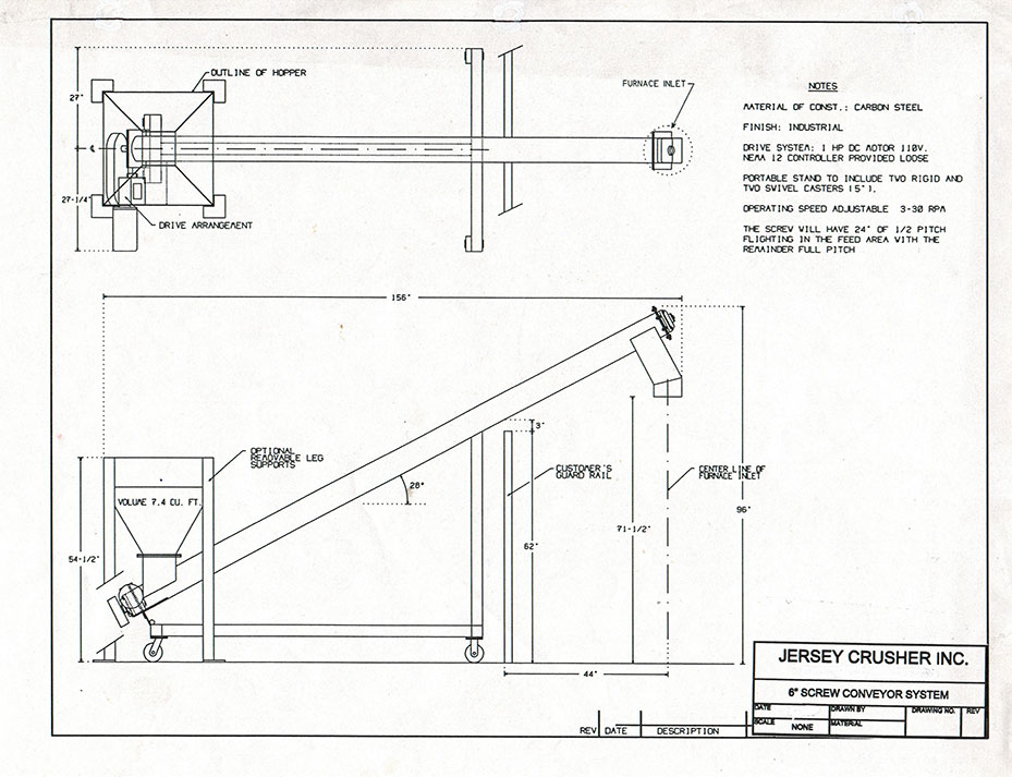 screw conveyor drawing